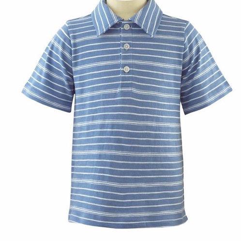 Rachel Riley Blue Striped Polo