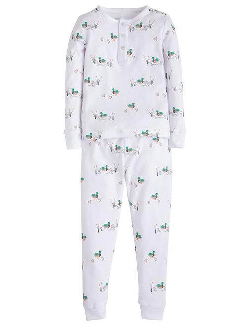 Little English Mallard Pima Pajamas