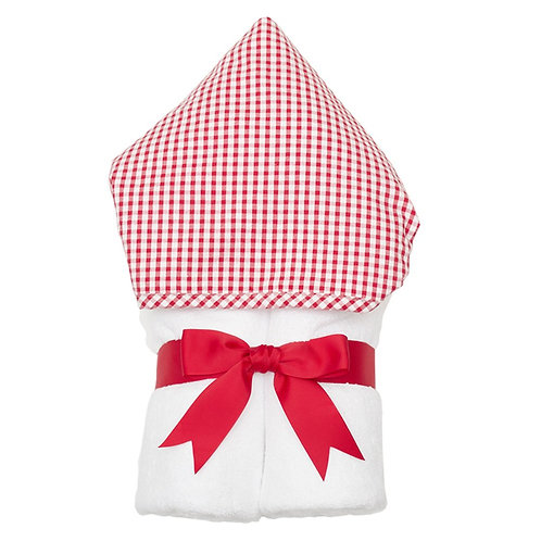 Hooded Towel-Red Gingham