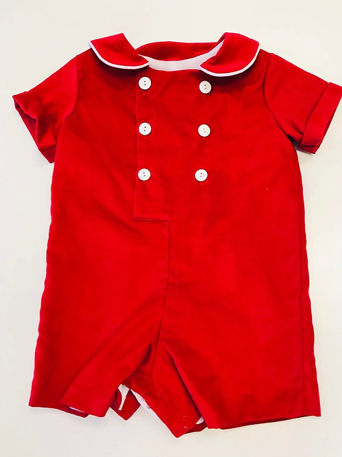 Anvy Kids Red Cord Button Romper