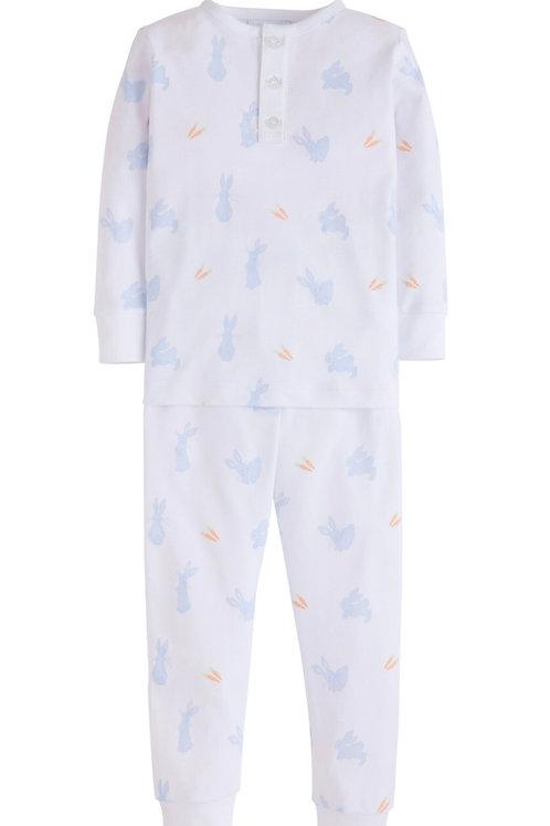 Little English Blue Bunny Pima Pajamas (18mo-5)
