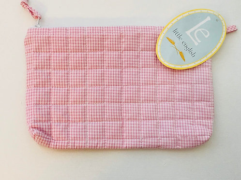 Little English Pink Gingham Cosmetic