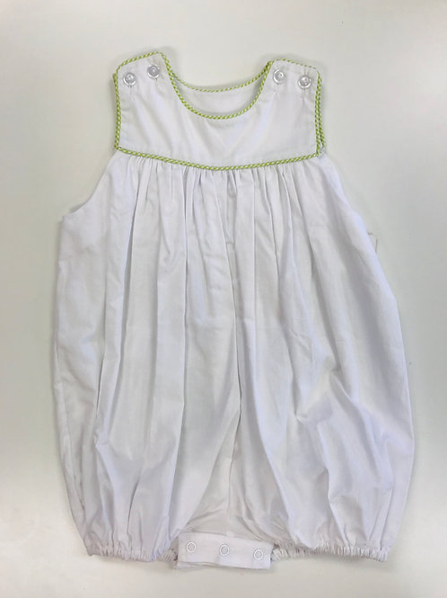 Lullaby Set Bubble with Green Gingham Trim 18, 24 mo, 2t