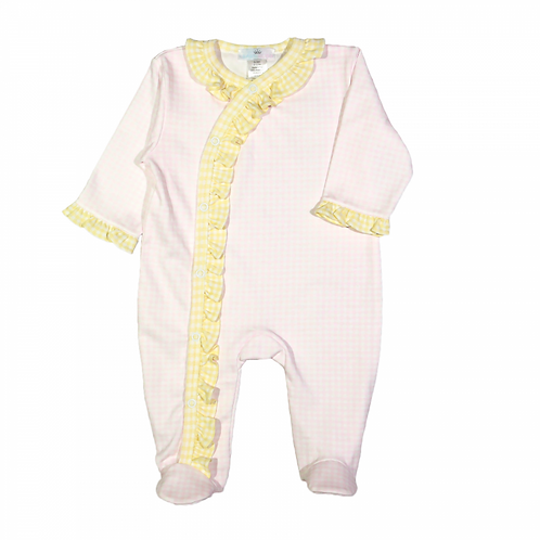 Baby Loren Pima Layla Pink and Yellow Footie