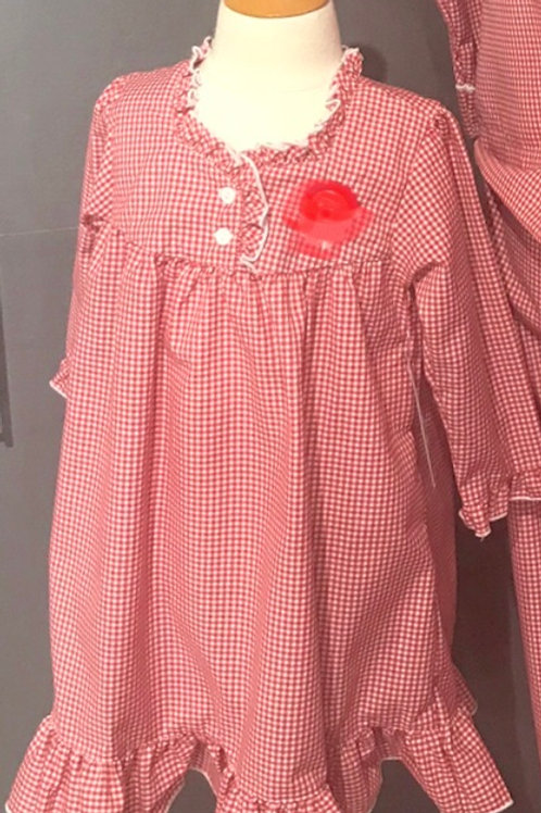 Sweet Dreams Red Gingham Gown
