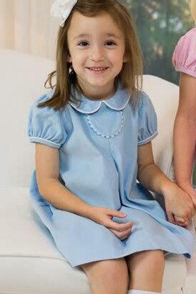 Lullaby Set Light Blue Cord Tab Dress 2t, 4t, 5
