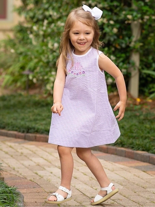 Lullaby Set Purple Gingham Dress 3t, 4t