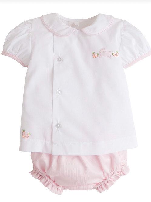 Little English Pink Bunny Diaper Set