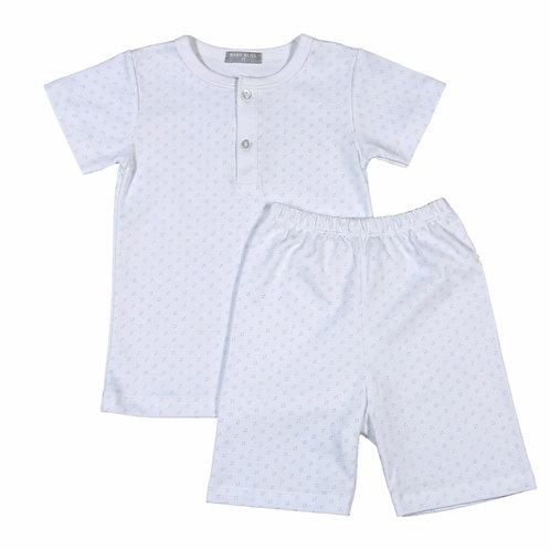 Baby Bliss Blue Dot Pima Loungewear