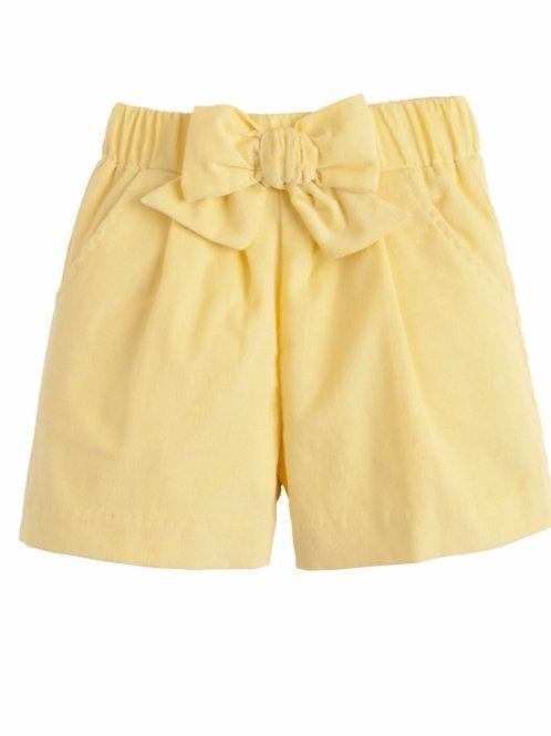 Little English Yellow Buttercup Bow Shorts