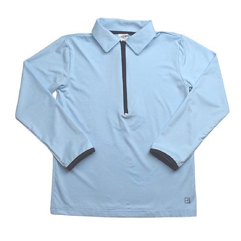 Set Athleisure Henry Half Zip light blue/navy