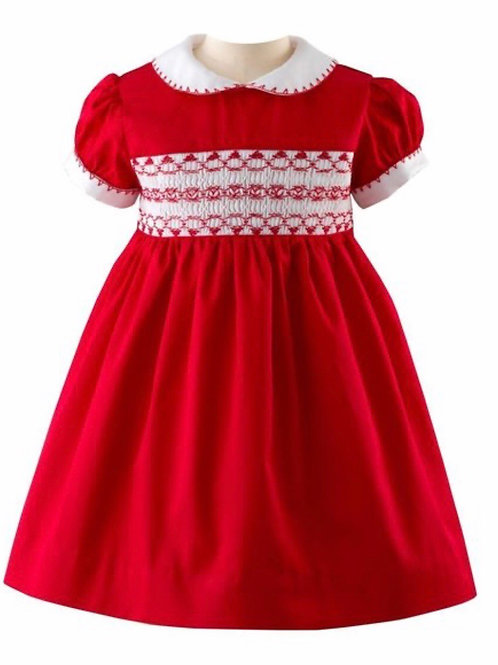 Rachel Riley Red Smocked Dress