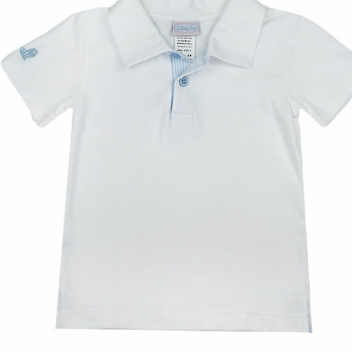 Lullaby Set White and Blue Polo