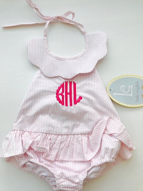 Little English Pink Scallopped Swimsuit
