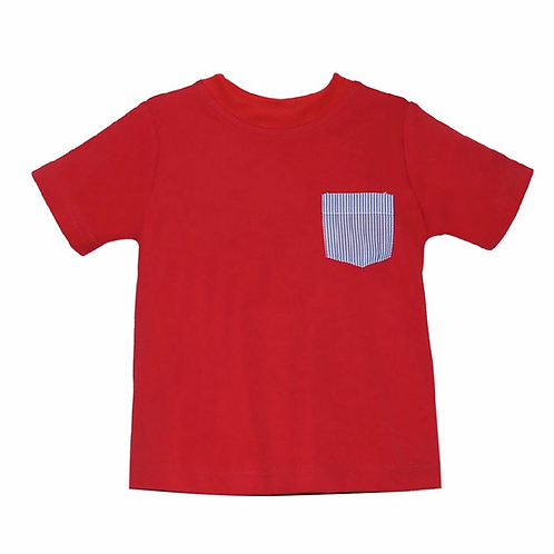Lullaby Set Red and Navy Pocket Tee