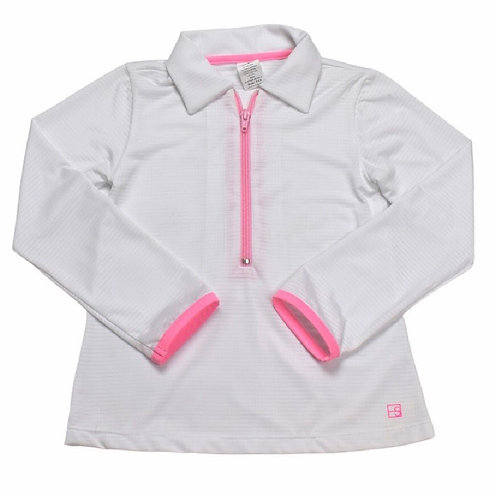 Set Athleisure White and Pink Athletic Heather Jacket L, XL