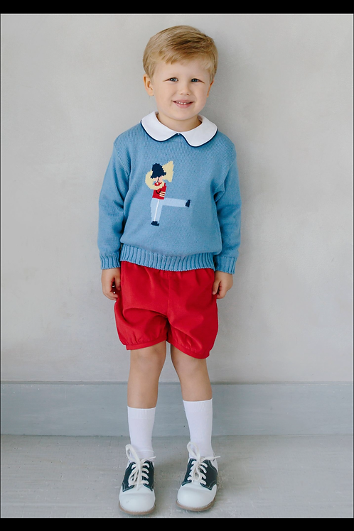 Little English Toy Soldier Sweater