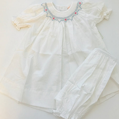 Remember  Nguyen White Smocked Dress