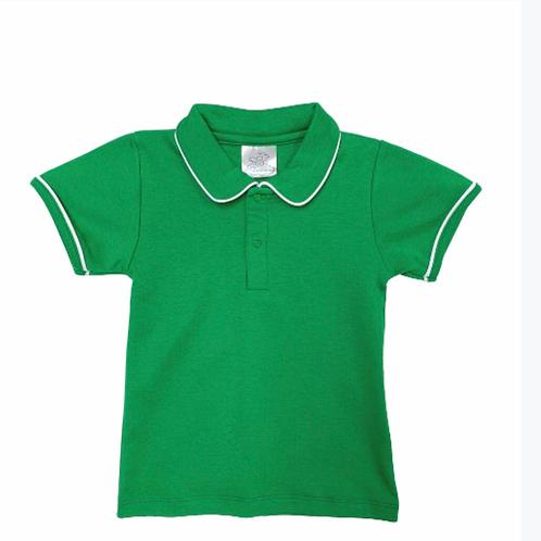 Bambinos Green Pima Polo 2t, 5, 6