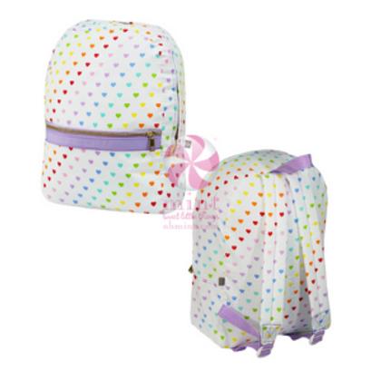 Mint Hearts Medium Backpack