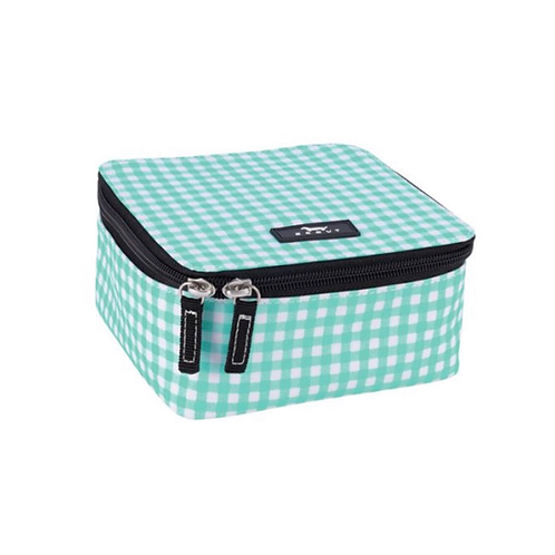 Scout hidden gem bag in aqua gingham
