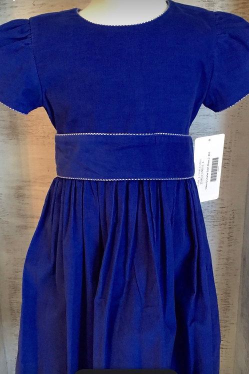 Claire and Charlie Royal Cord Sash Dress (6x, 8)