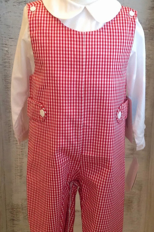 Claire and Charlie Red Gingham Longall