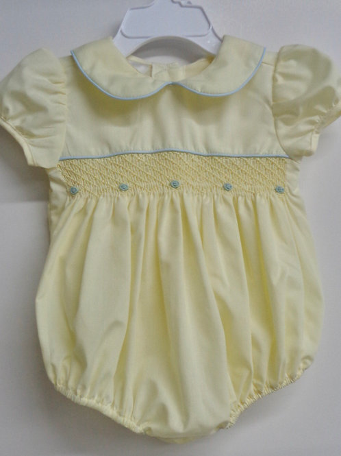 Baby Blessings Yellow Smocked Bubble