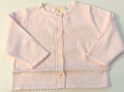 Petit Ami Ribbed Pink Sweater