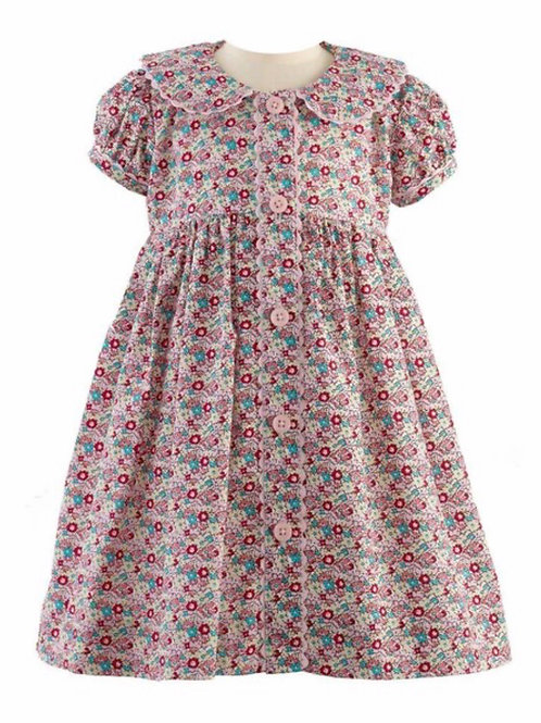 Rachel Riley Ditsy Floral Button-Front Dress & Bloomer-Multi Color