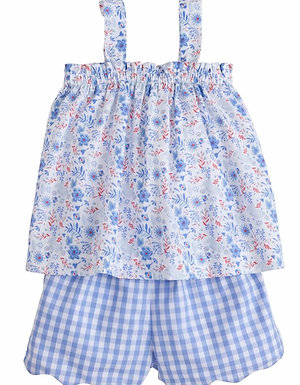 Little English Rosemary Floral Kylee Short Set size 5-8