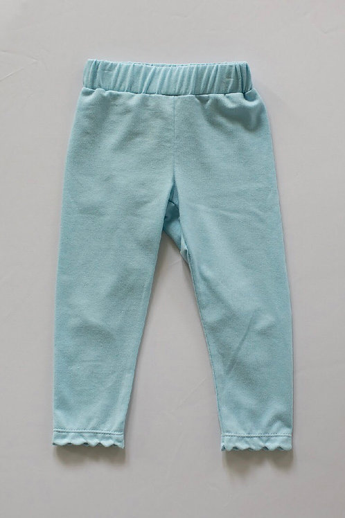 Peggy Green Baby Blue Scallop Leggings