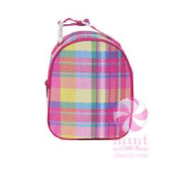 Pink Plaid Gumdrop Lunchbox
