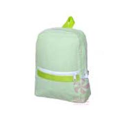 Lime Seersucker Small/Preschool Backpack by Mint