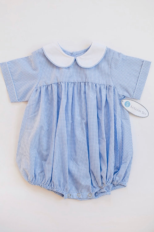 Lullaby Set Light Blue Gingham Bubble 6, 12mo