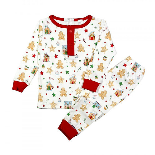 Baby Loren Gingerbread Boys Pajamas