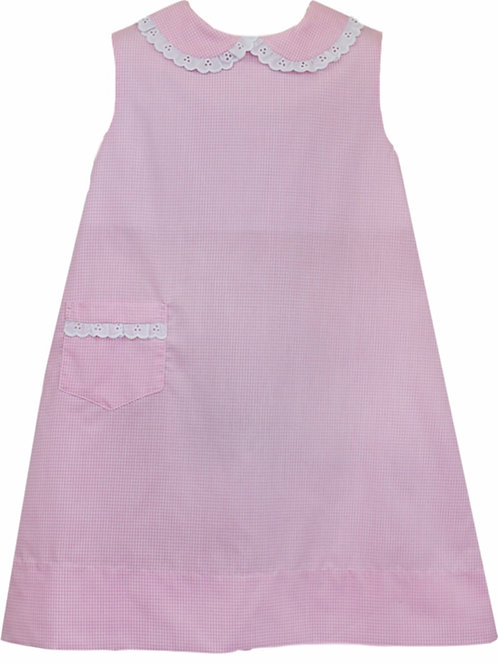 Lullaby Set Pink Mini Gingham Olivia Dress