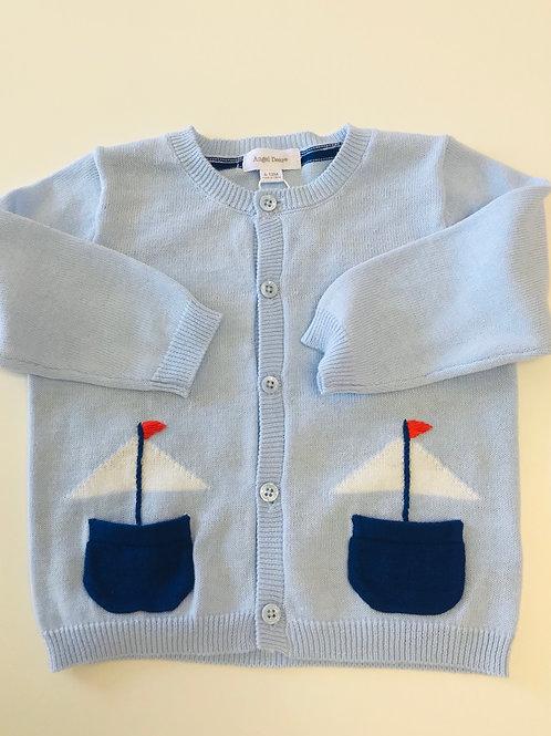 Angel Dear Sailboat Cardigan Sweater