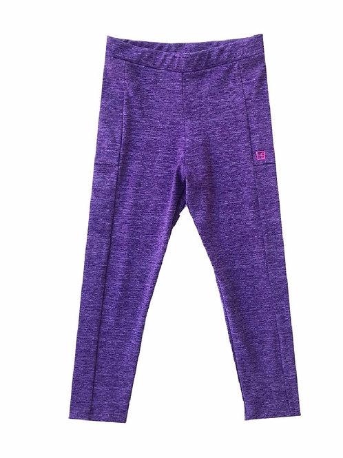 Set Athleisure Heathered  Purple Lila Athletic Leggings