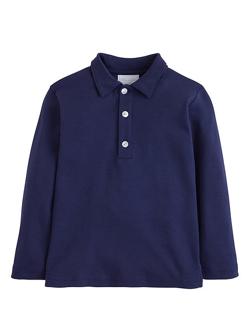 Little English Navy Long Sleeve Polo