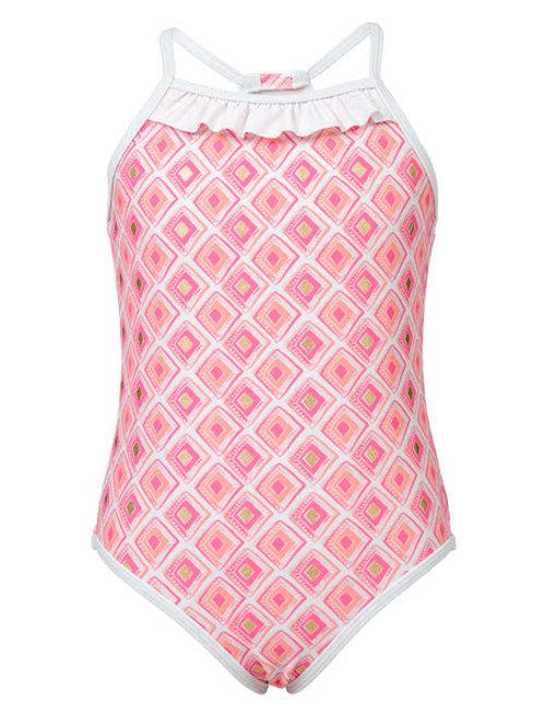Snapper Rock Pink Diamond One-Piece Swimsuit