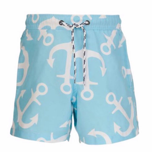 Snapper Rock Light Blue Anchor Swimsuit