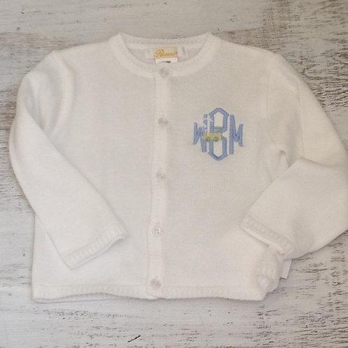 Petit Ami White Cardigan Sweater