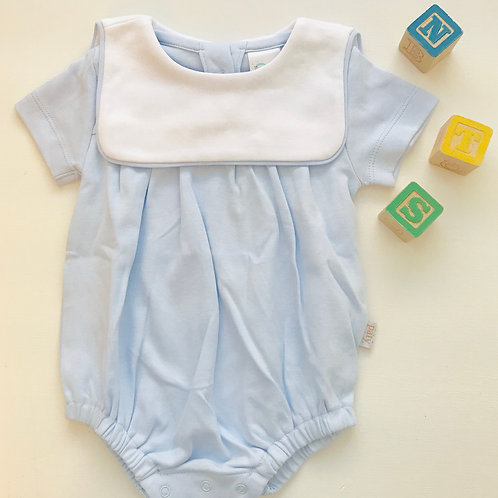 Paty Knit Bubble with Square Collar-Light Blue