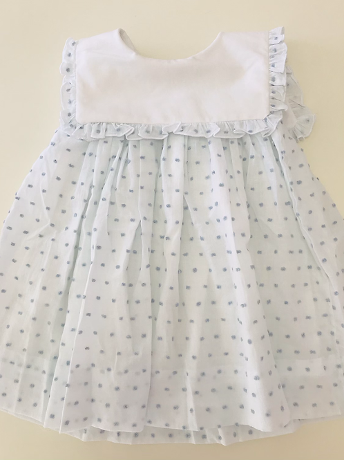 Cypress Row Blue Swiss Dot Dress