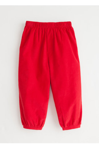Little English Red Cord Banded Pants