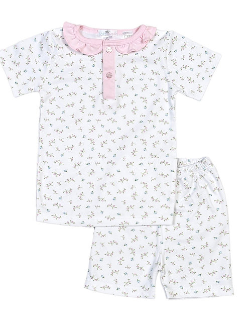 Baby Bliss Pima Pink Floral 2 piece Loungewear 2t