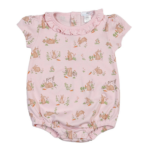 Baby Bliss Pima Pink Bunny Bubble