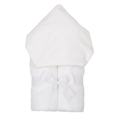 Hooded Towel-White Pique
