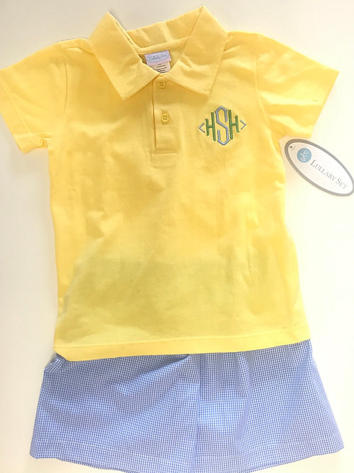 Lullaby Set Yellow Knit Polo